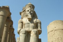 Statue of Egyptian Pharaoh