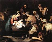 Adoration of the Shepherds' by Bartolomé Esteban Murillo