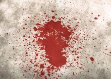 Blood spatter on a wall