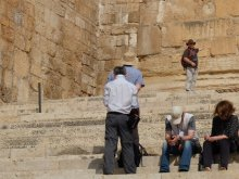 Dr John Dickson lecturing on the Southern Steps in Jerusalem
